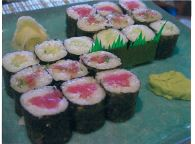 Roller (Lunch) Tuna roll, yellowtail roll and cucumber roll OR california roll $9.95